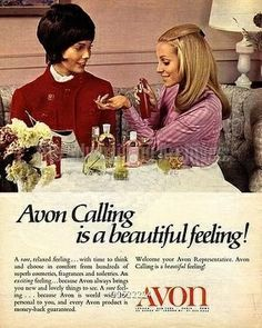 Avon Calling...a great childhood memory.  Loved those little sample lipsticks!