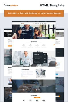 Website Template , TaxAdvisor - Financial Advisor Multipage
