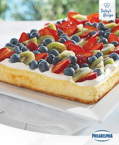 This freshly picked cheesecake makes the most of ripe summer fruits.