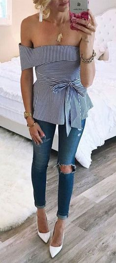 73a54740e53 15 Dressy Jeans Outfit Ideas to Try This Summer