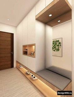 Modern foyer decorating with lights, - Small room design Foyer Design, Entry Way Design, House Design, Corridor Design, Design Homes, Hall Design, Home Entrance Decor, House Entrance, Apartment Entrance