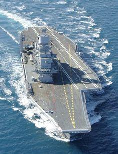 Aircraft Carrier INS Vikramaditya, Indian Navy (built as admiral gorshkov russian navy) Navy Marine, Navy Military, New Aircraft, Military Aircraft, Indian Navy Aircraft Carrier, Navy Carriers, Naval, Indian Army, Military Equipment