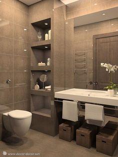 banheiro com armario na parede