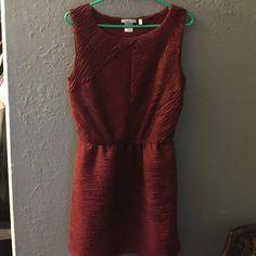 Burgundy dress unworned Burgundy dress new removed tags Halo Dresses Midi