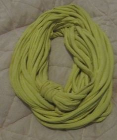 Infinity Scarf in High Visibility Neon Yellow by BewilderedMine, $12.00