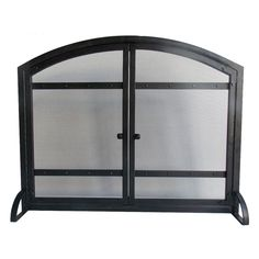 Pleasant Hearth FA338S Harper 1-Panel Fireplace Screen with Doors - Antique Black Finish | from hayneedle.com  $85
