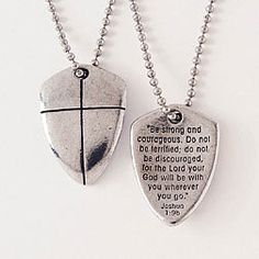Cross Necklace - Shield Of Faith by Bob Siemon  (I want this!)