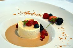Almond semifreddo with rum sauce (Signature Restaurant, Warsaw, Poland).