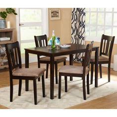 Kitchen-5-Piece-Dinnig-Room-Set-Tables-Chairs-Espresso-Wood-Furniture-Nook