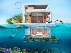 Casa flutuante em Dubai