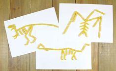 Activite-manuelle_squelettes-dinosaures Pasta Art, Camping Theme, Baby Learning, Dinosaur Birthday, Jurassic World, Preschool Activities, Kindergarten, Projects To Try, Blog