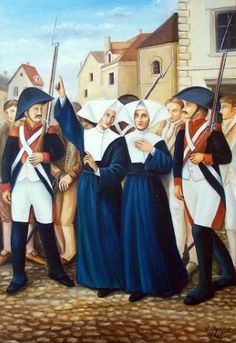 Odilia Baumgarten, Roman Catholic Nun and French Martyr, during the French Revolution. Daughters Of Charity, Religion Catolica, Human Dignity, Bride Of Christ, French Revolution, The Kingdom Of God, Yesterday And Today, Roman Catholic, Religious Art