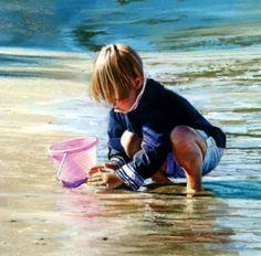 "FOR LENTE ~  ~  Every little girl should build  (have) sand sandcastles  ~  Trevor Osborne: ""Sandcastles"""