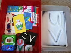 These are our  Workboxes  for this week!  We are now doubling up on the last letters of the alphabet!  This week is Letter U and V and Numb...