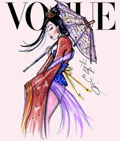 Disney Divas for Vogue by Hayden Williams: Mulan