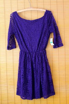 NWT Decibel Womens Sz L Eggplant Purple Laced Lined Deep V Back 3/4 Sleeve Dress #Decibel #Stretch #Bodycon #RVATreasures #purple #Embroidered #Sequin #Adjustable #Strap #Church #3/4sleeve #Tank #Women #ladies #Spring #Summer #Fashion #Affordable #Work #Weartowork #casual #office #Church #Party #Nightout #Pleated #Beautiful #Fashion #urban #Chic #boho #Hippie #lace #Polyester