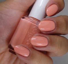 """Essie """"Love Every Minute"""" polish from its 2014 Wedding Collection. Soft pink with melon tones. Pretty!"""
