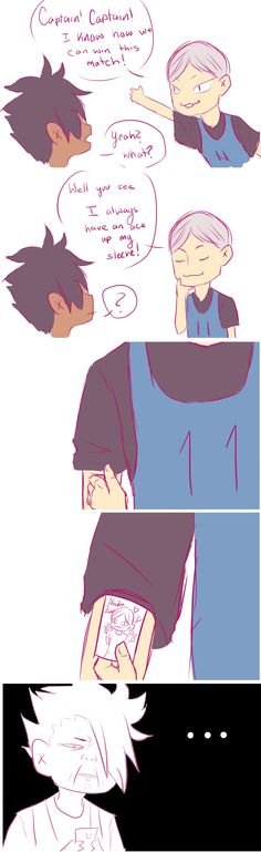 #Haikyuu comic Kuroo & Lev - Lev, what...?