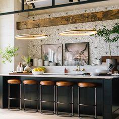 Boho Kitchen, New Kitchen, Spanish Kitchen, Industrial Chic Kitchen, Kitchen Wood, Kitchen Styling, Modern Kitchen Design, Interior Design Kitchen, Modern Kitchen Inspiration