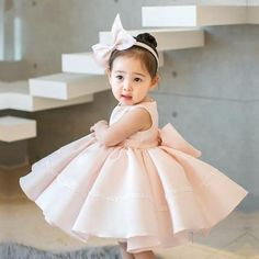 Girly Shop's Light Pink Baby Girl Birthday Outfit