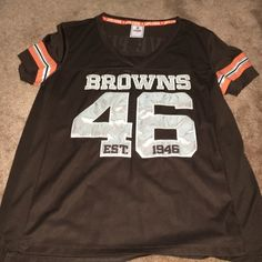 Victoria Secrets Cleveland Browns Pink Jersey Sz L Women's Victoria Secrets Pink Cleveland Browns Rhinestone Jersey Size Large, Gently Owned Victoria's Secret Tops Tees - Short Sleeve