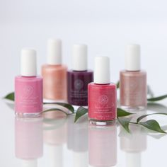 Honeybee Gardens carries a line of natural nail polish in a wide variety of colors. These are actually water-based (so they remove effortlessly with your standard rubbing alcohol) and contain absolutely no traces of dangerous chemicals or carcinogens