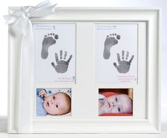 #Twins photo frame with space for footprints and handprints