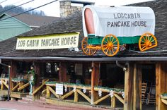 Log Cabin Pancake House - Located in Gatlinburg, this is a wonderful place to eat breakfast! - http://www.visitmysmokies.com/blog/sevierville/dining-sevierville/pancakes-anyone/