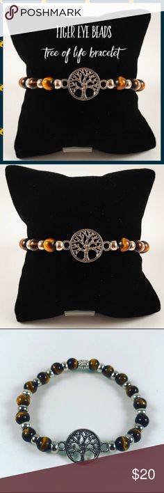 Women tiger eye beads tree of life boho bracelet Women bracelet. Fits most , 5.5 to 7 inch wrist. Handmade by me , never worn by anyone. Made with golden tiger eye beads. Tibetan silver tree of life charm and deco beads. I ship fast !!✈️Bundle and save !! ( 10 % off bundles) . Any questions let me know ! No transactions outside Poshmark!! Jewelry Bracelets
