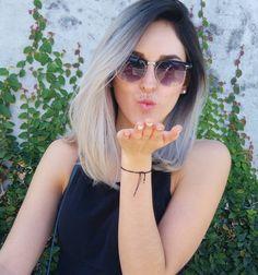 @_kikanieto hermosa Tumblr Girls, Silver Hair, New Look, Sunglasses Women, Hair Makeup, Hair Color, Hairstyle, Actors, Long Hair Styles