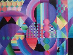 Circles 5, acrylic on board, Terri Johnson