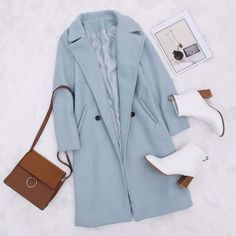 Top winter trendy outfits to buy in 2020 | | Just Trendy Girls Stylish Outfits, Fashion Outfits, Womens Fashion, Fashion Clothes, Girl Outfits, Stylish Clothes, Hijab Fashion, Mode Mantel, Blue Trench Coat