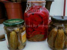 Castraveți si Gogoșari la Otet - Recipes By Monique Recipe Images, Pickles, Cucumber, Stuffed Peppers, Vegetables, Recipes, Food, Diana, Canning