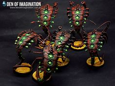 Necron Rust to the Iron bone - Painting / Conversions / Artwork - Warhammer Forums Warhammer 40k Necrons, Warhammer Models, Warhammer 40k Miniatures, Necron Warriors, Glow Paint, Army Colors, Paint Color Schemes, Yellow Painting, Cool Paintings