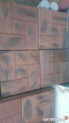 Imitacja drewna betonowego ogrodowego