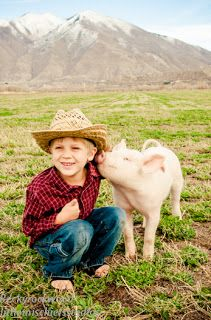 Kidlets and piglets....kids and pigs