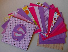 6X6 Baby Girl Chipboard Mini Album Brag Book by RRichCreations, $30.00