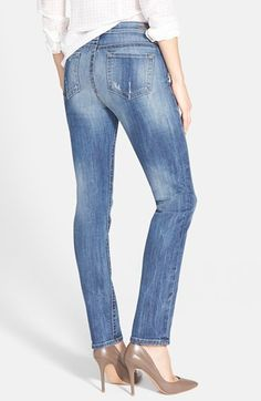 KUT from the Kloth 'Stevie' Stretch Straight Leg Jeans (Priceless) | Nordstrom