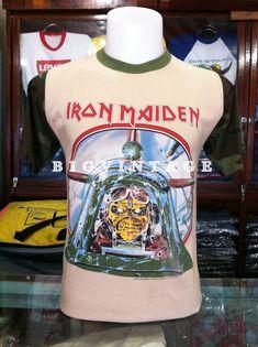 BIGVINTAGEHITSTORY: VINTAGE T-SHIRT Vintage Band T Shirts, Vintage Shirts, Vintage Outfits, Camo Shirts, Old Shirts, Rock Tees, Rock T Shirts, Iron Maiden Aces High, Iron Maiden T Shirt