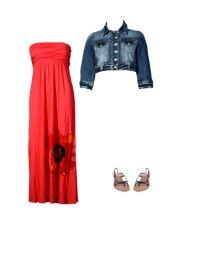 jean jacket with maxi dress