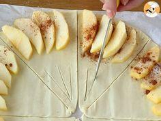Folhados de maçã rápido - Preparação Passo 4 Sweet Recipes, Cake Recipes, Confort Food, Food Garnishes, Tasty, Yummy Food, Portuguese Recipes, Love Eat, Sweet And Salty
