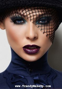 sultry look, bold lips