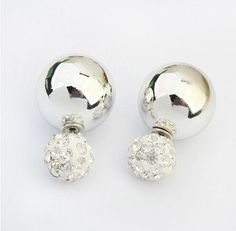 Fashion Double Pearls Stud Earrings