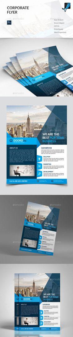 Corporate Flyer Template PSD #design Download: http://graphicriver.net/item/corporate-flyer/13488179?ref=ksioks