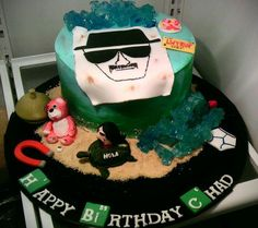 I made my husband a Breaking Bad cake for his birthday - Imgur