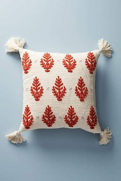 Anthropologie Embroidered Rue Pillow #affiliatelink #homedecor