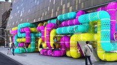 Genius! Urban playgrounds // Playground tube system in New York City