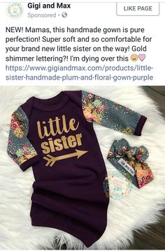 Gigi And Max, Floral Gown, Everything Baby, Cute Baby Clothes, Little Sisters, Girl Stuff, Ava, Cute Babies, Brand New