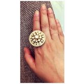 Polki Kundan Ring MSUHA93074616330 - buy Jewellery online from Suhana Art And Jewels at CraftsVilla.com