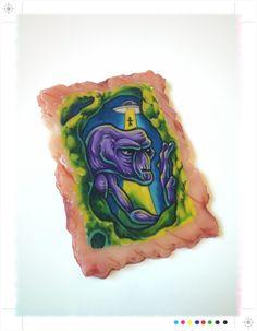 Alien abduction tattoo on synthetic life like flesh: bloody horror halloween gore wall art // creepy sci fi ufo by HelloKreepy on Etsy https://www.etsy.com/listing/252932937/alien-abduction-tattoo-on-synthetic-life